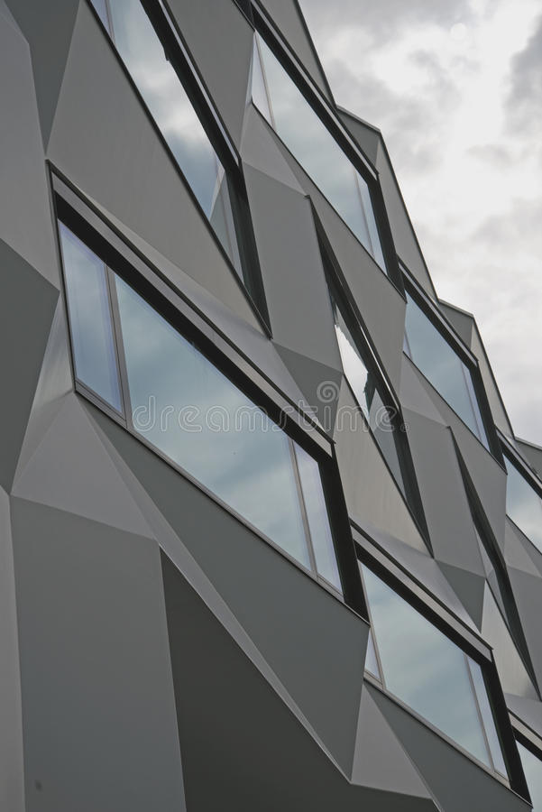 Modern Architecture. Facade of a modern building stock photography