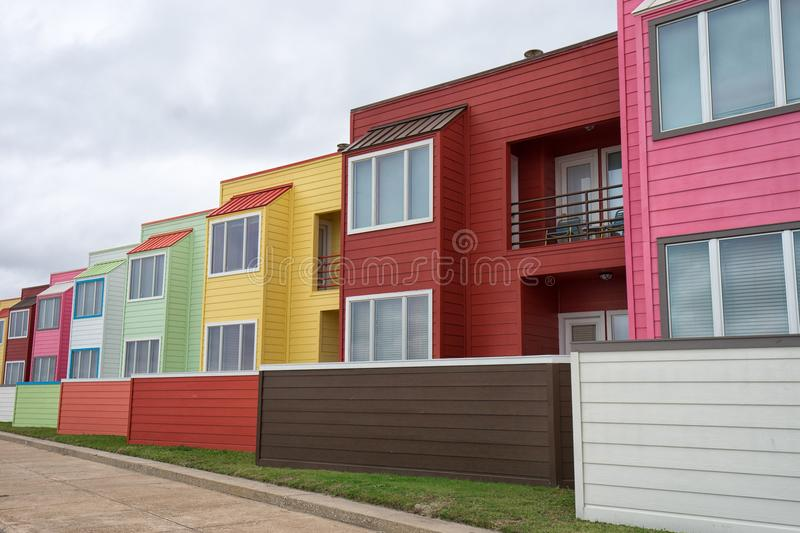 Modern architecture in Galveston, Texas, USA royalty free stock images
