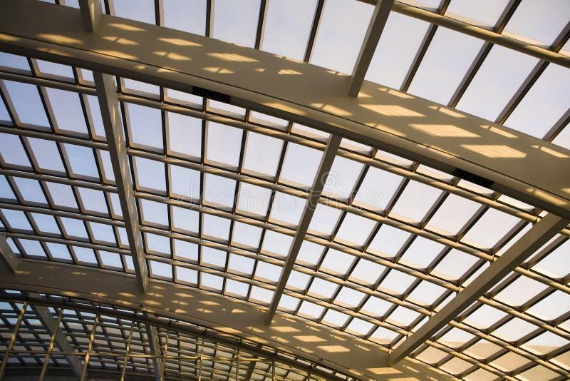 Modern Architecture glass dome. A complex modern roof,modern architecture glass dome in beijing stock photo
