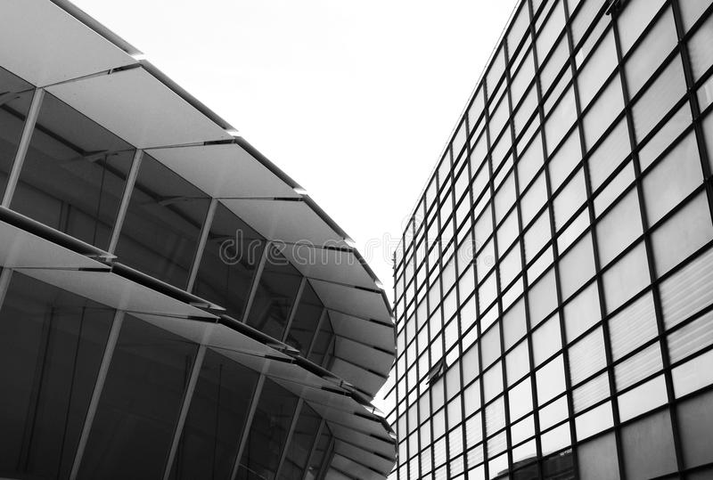 Modern architecture with glass surface stock photo