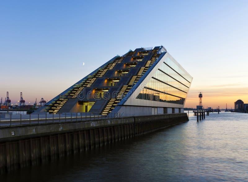Modern Architecture at Hamburg Harbor royalty free stock image
