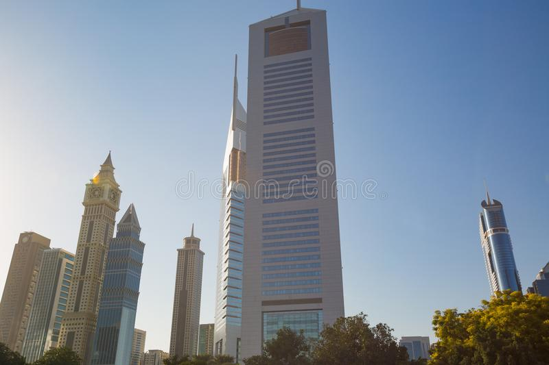 High rise and modern buildings in Dubai, UAE stock image