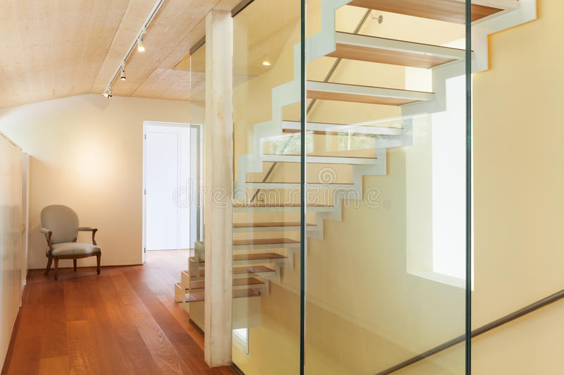 Modern architecture, interior, staircase stock images