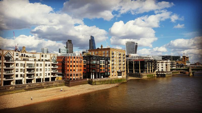 Modern architecture in London. By the River Thames stock photography