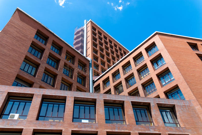 Modern architecture in Madrid, Spain. stock photography