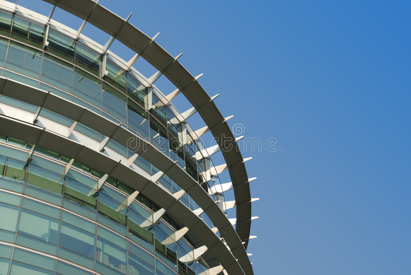 Modern Architecture in metal and glass royalty free stock photography
