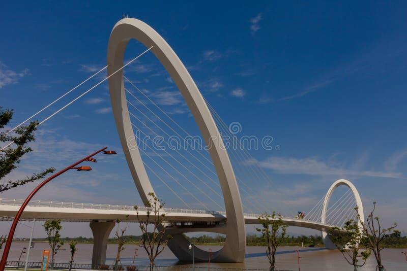 Modern architecture - Pedestrian Bridge stock photos