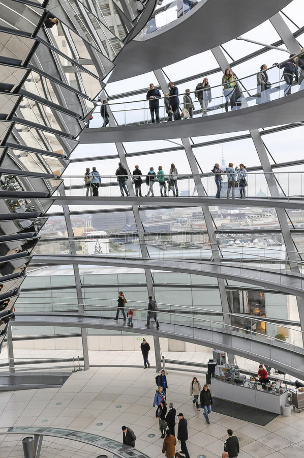 Modern architecture. Reichtag Dome, Berlin, Germany royalty free stock photos