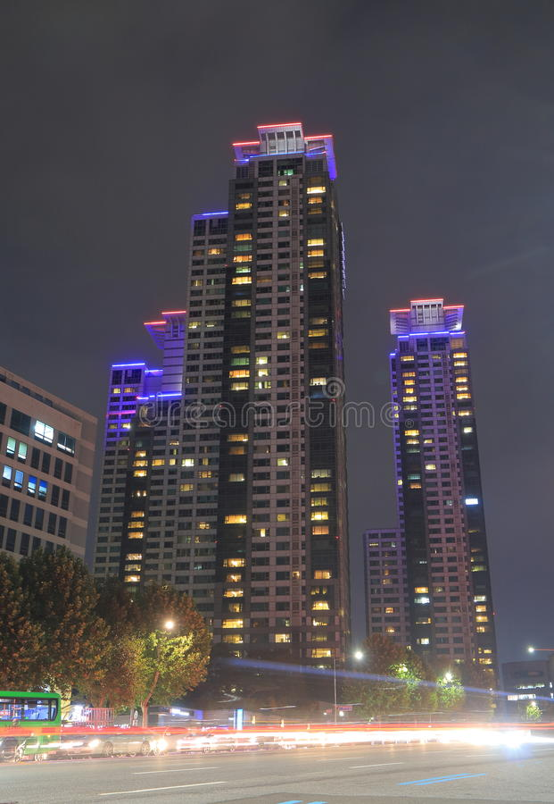 Modern architecture residential building Seoul South Korea royalty free stock photography