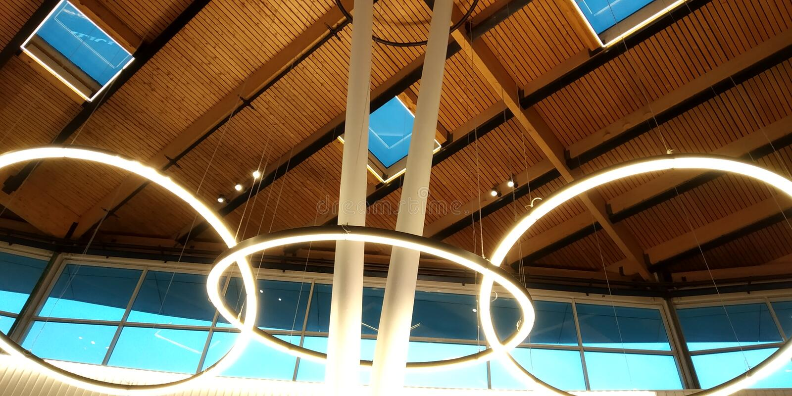 Modern architecture roof structure . Fragment of modern architecture. Wood roof royalty free stock photos