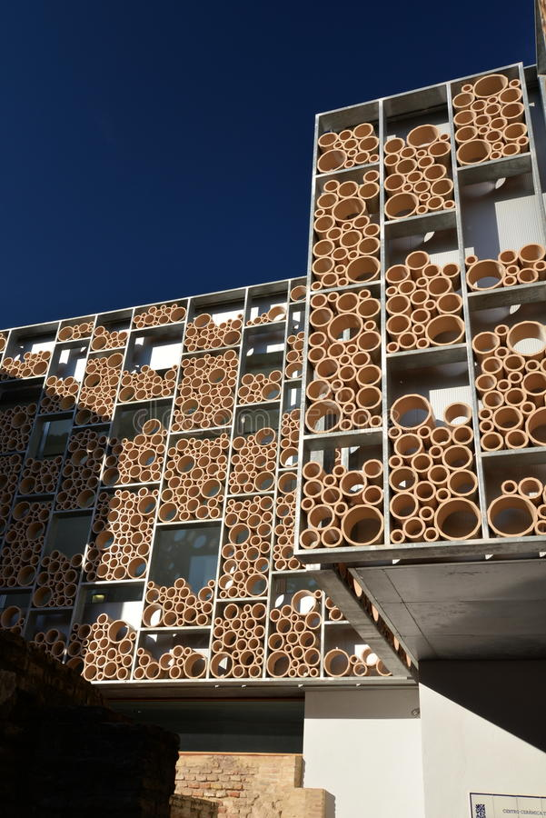 Modern architecture in Seville, Spain. Museum of pottery. stock photos