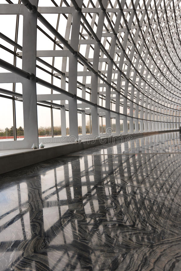 Modern building steel architecture stock photography