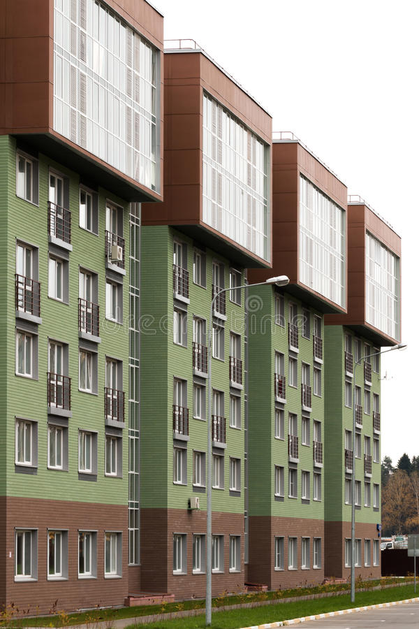 Modern architecture. Social housing. stock images