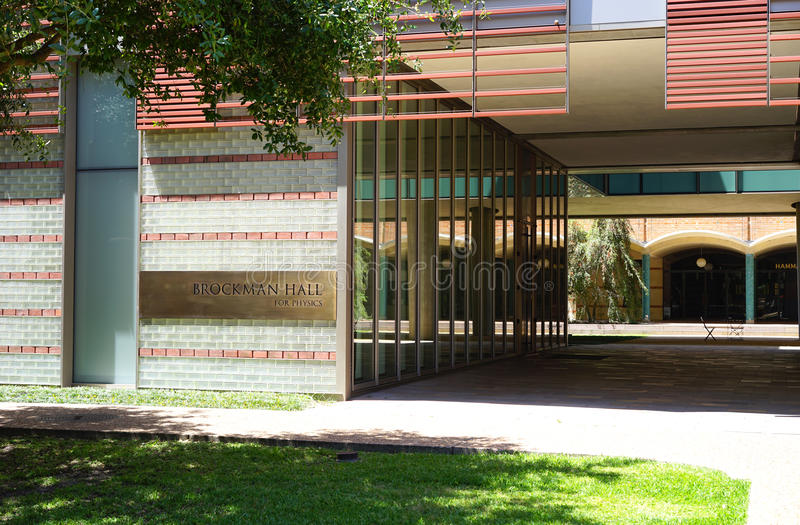 Modern architecture on Texas campus royalty free stock photography