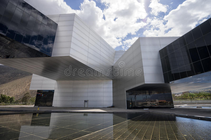 Modern architecture of the UNASUR head office in Quito stock image