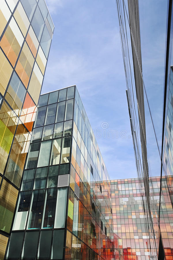Modern architecture at `The Village` commercial area, Beijing, China royalty free stock photo
