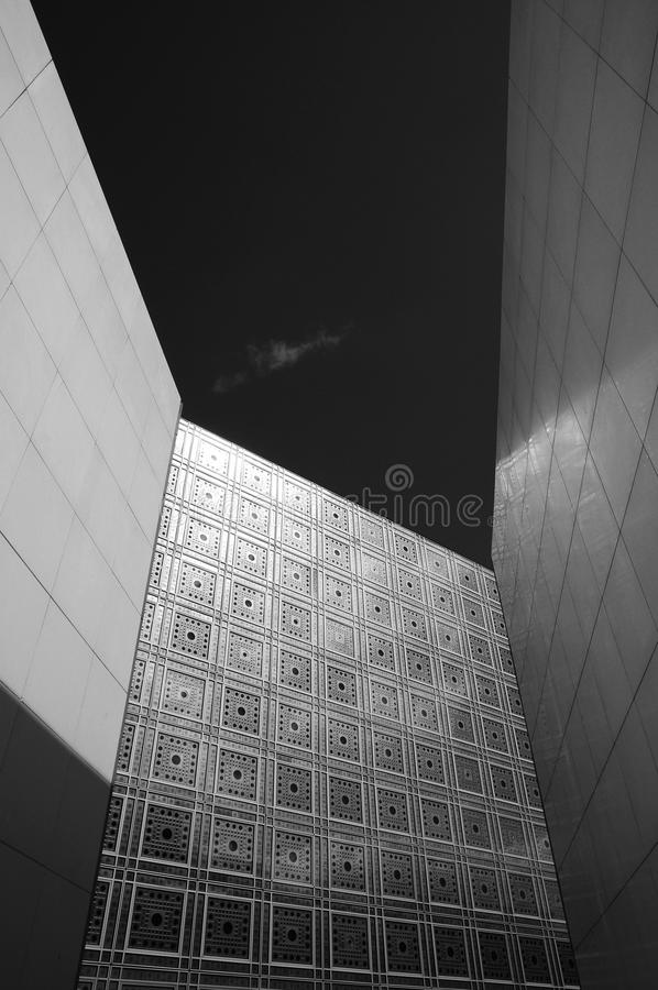 Modern architecture of wall decoration stock image