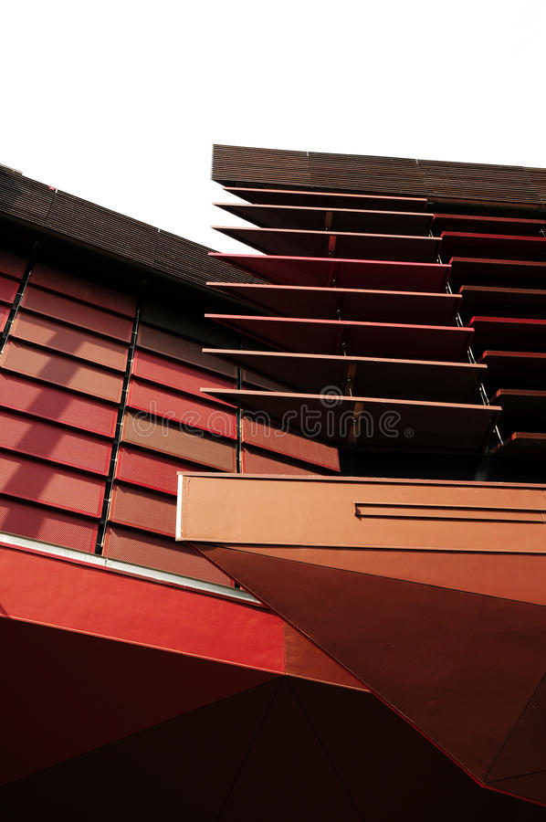Modern architecture of wall decoration stock photography