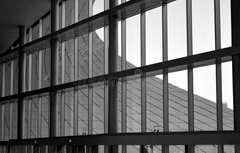 Modern architecture with window glass front. office complex stock photo