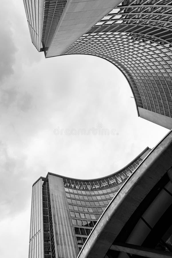 Modern arkitektur av stadshuset, Toronto royaltyfria bilder