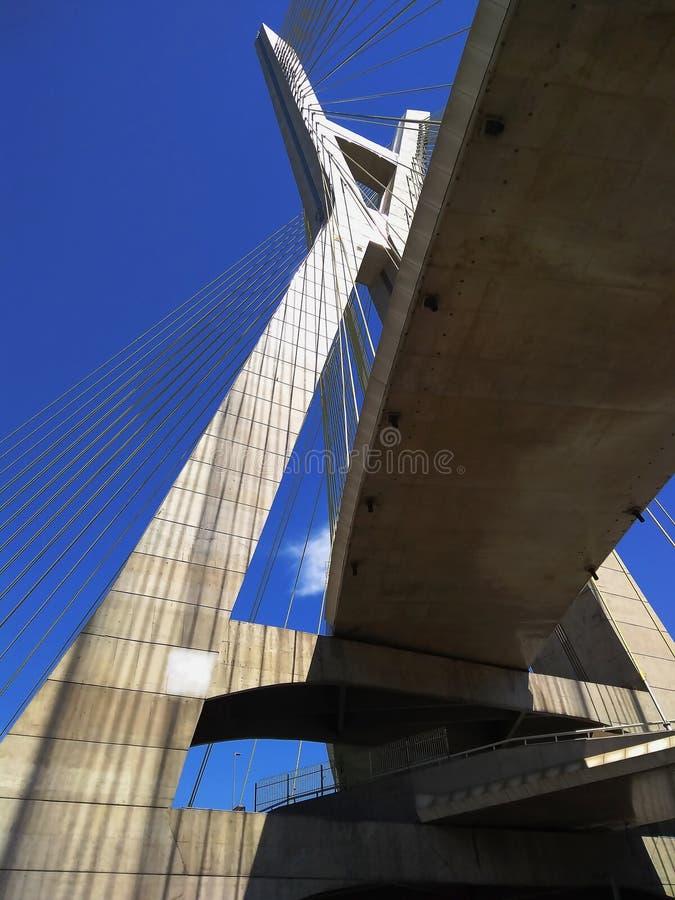 modern arkitektur bridges modernt Kabel-bliven bro i världen royaltyfri fotografi