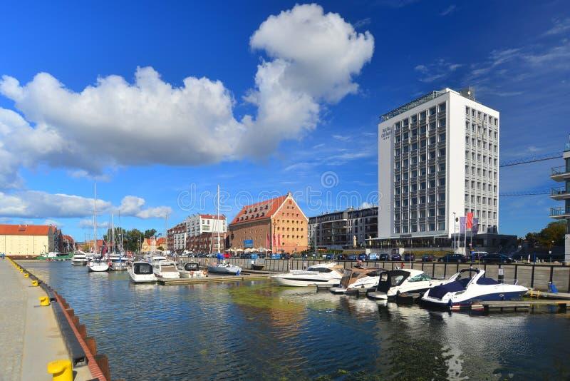 Modern arkitektur i Gdansk royaltyfri bild
