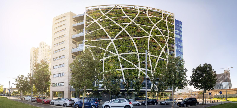 Modern arkitektur i Tel Aviv, Israel arkivfoto