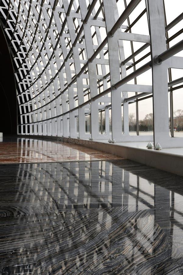Modern arkitektur stålsätter ramen arkivbilder