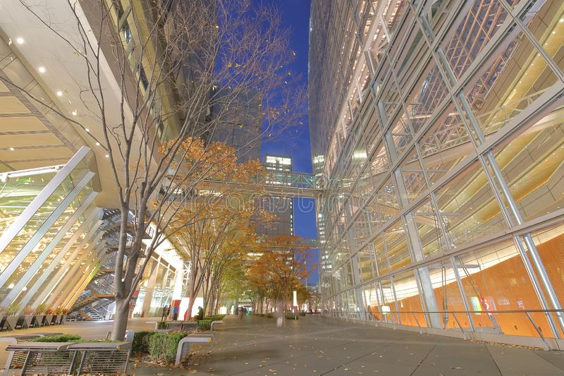 Modern arkitektur Tokyo för internationellt forum som bygger Japan arkivfoton