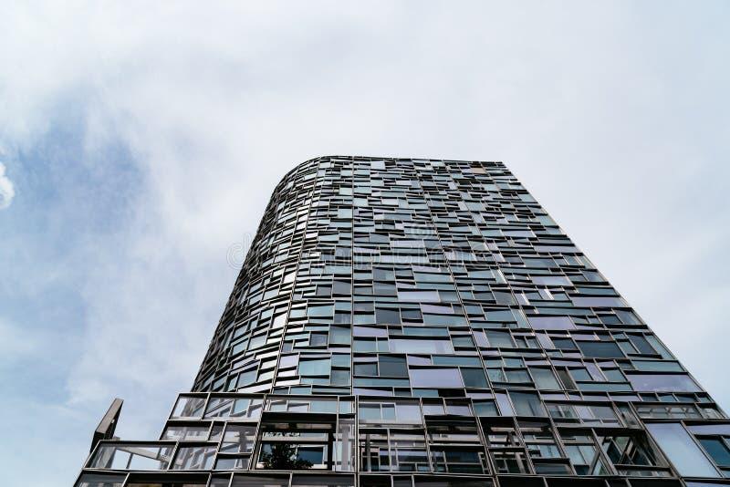 Modern arkitekturbyggnad i New York City fotografering för bildbyråer