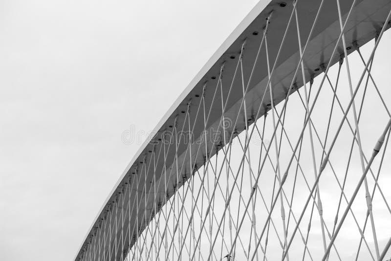 modern arkitekturdetalj Abstrakt arkitekturbakgrund som är svartvit arkivbilder