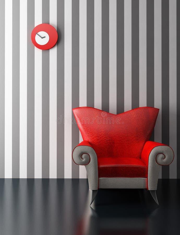 Modern armchair 3D rendering royalty free stock image
