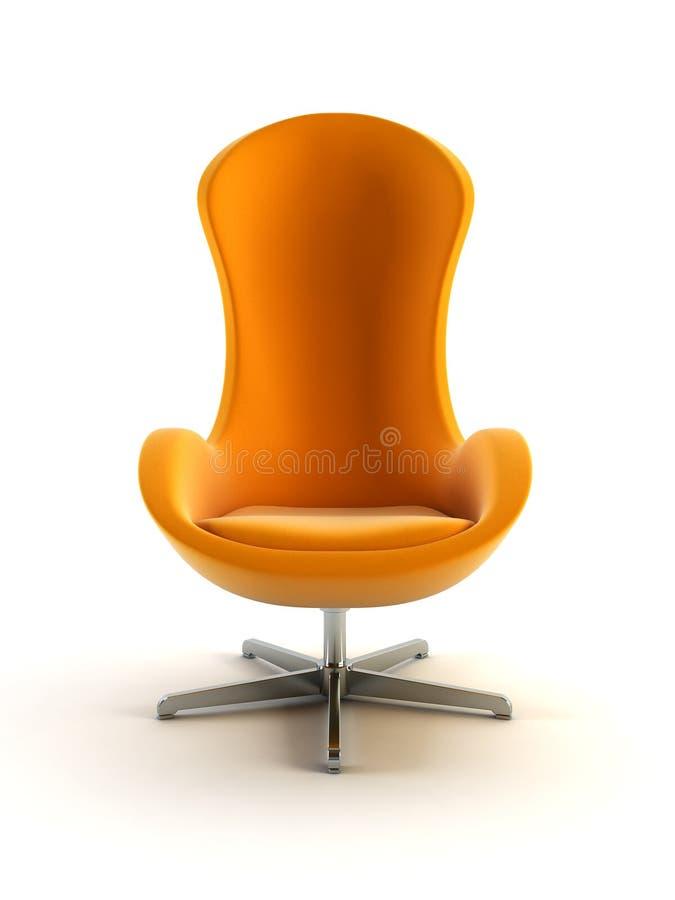 Modern armchair 3d rendering stock illustration