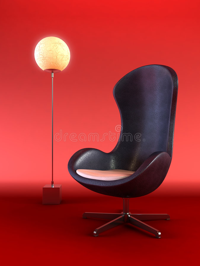 Download Modern Armchair 3d Rendering Stock Illustration - Image: 2187041
