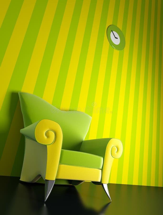 Modern armchair 3D rendering stock photo