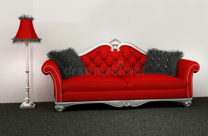 Modern armchair with furry cushions