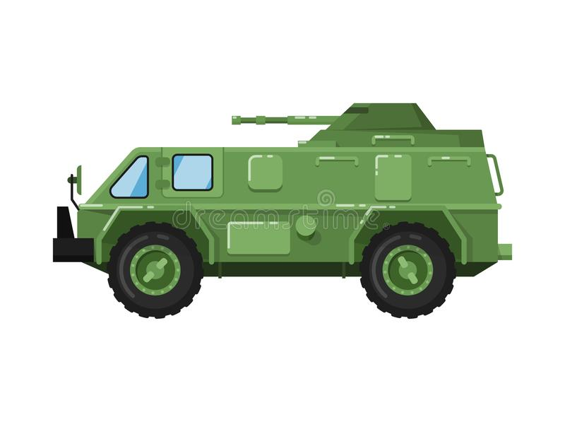 Modern army truck isolated icon royalty free illustration