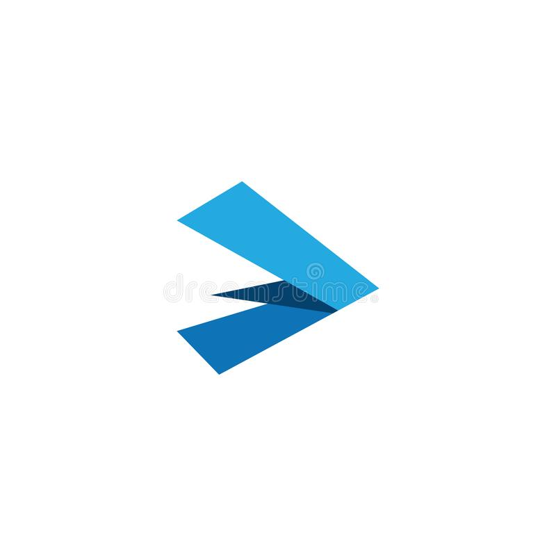 Modern Arrow Icon Logo Template. For technology business financial company with modern high end look vector illustration