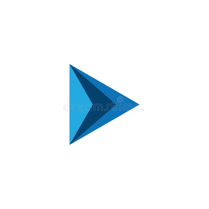 Modern Arrow Icon Logo Template. For technology business financial company with modern high end look stock illustration