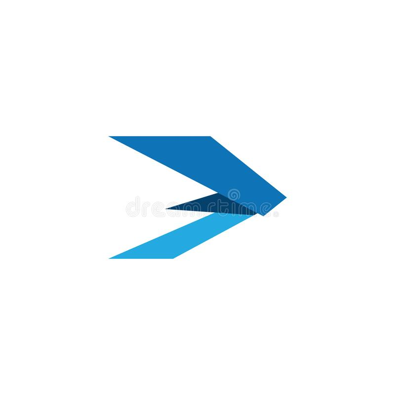 Modern Arrow Icon Logo Template. For technology business financial company with modern high end look royalty free illustration
