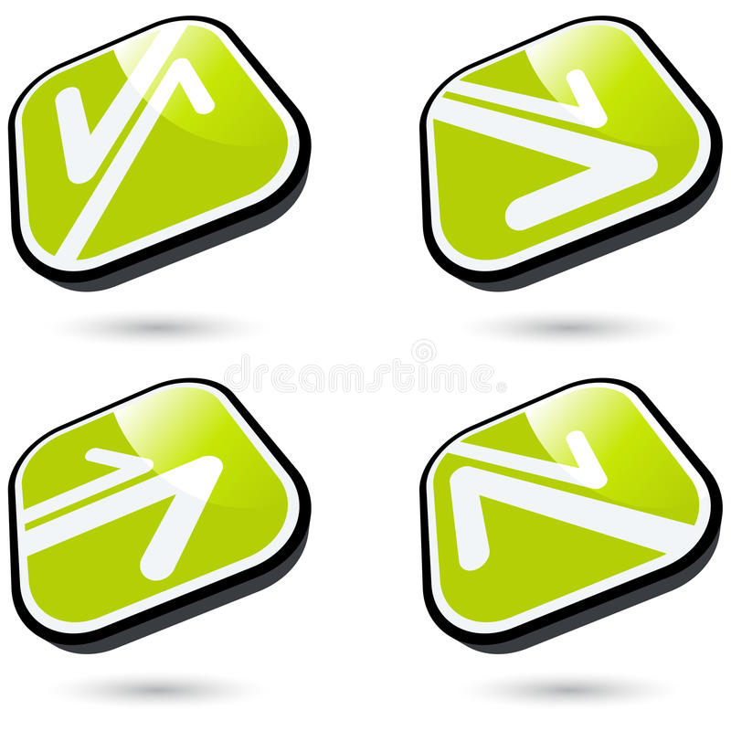Download Modern Arrow Sign Collection Stock Vector - Image: 16799340