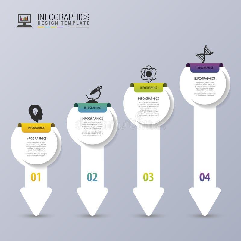 Modern Arrows. Infographic design template. Timeline. Vector illustration royalty free illustration