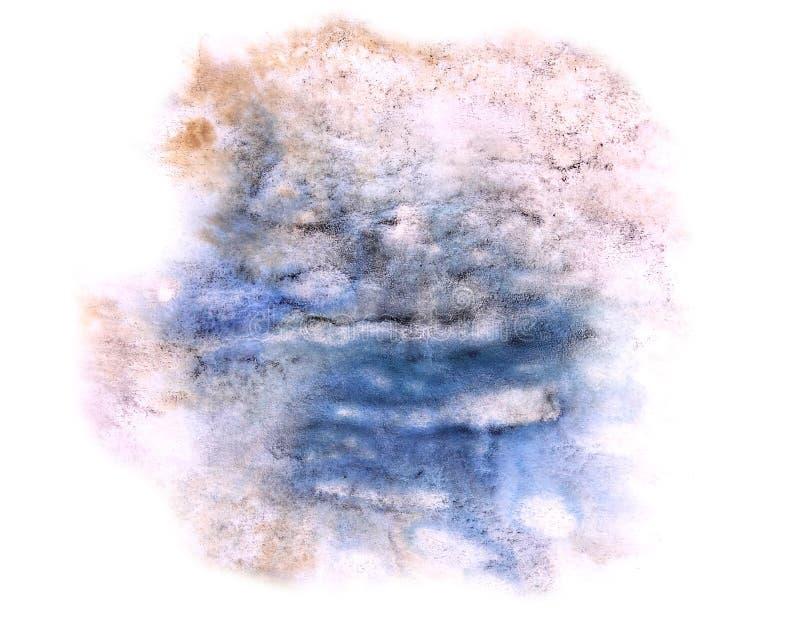 Modern art blue,violet avant-guard artist seamless background c. Ubism abstract art texture watercolor wallpaper stock image
