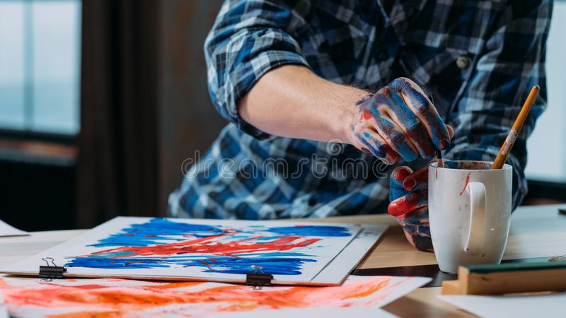 Modern art creative process abstract artwork royalty free stock image