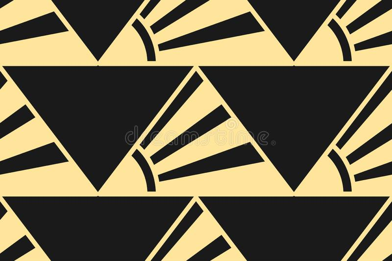 Modern Art Deco background stock illustration