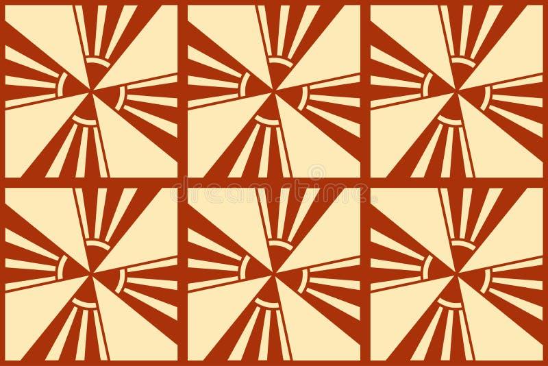Modern Art Deco bakgrund royaltyfri illustrationer