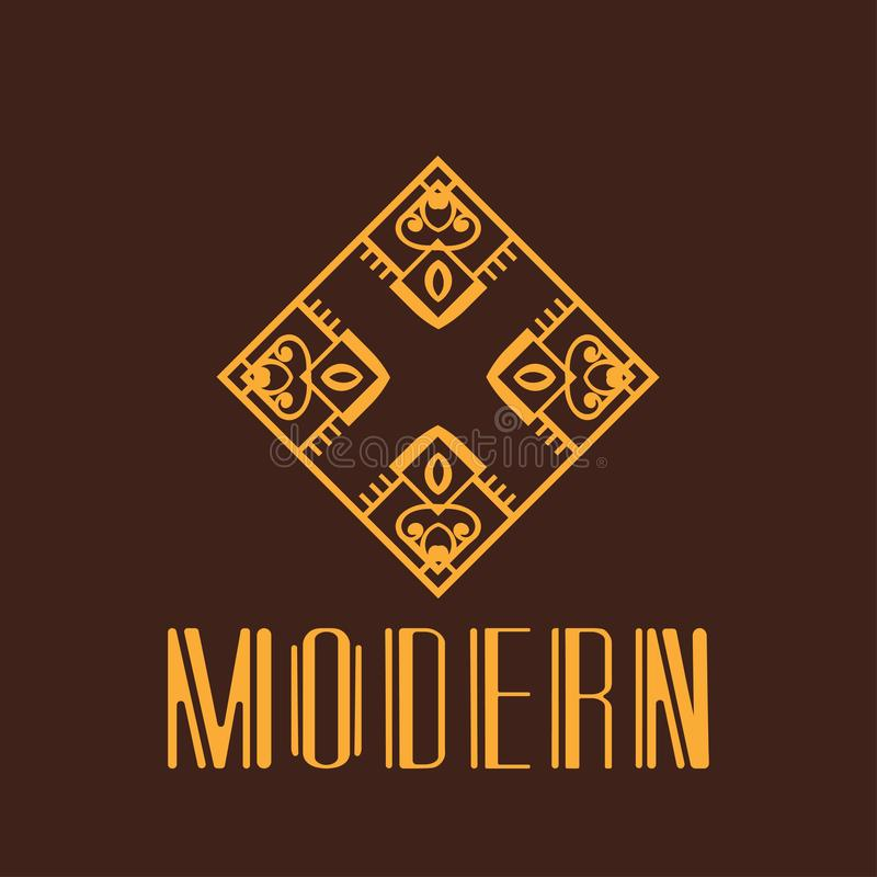 Modern Art Deco Logo vector illustration