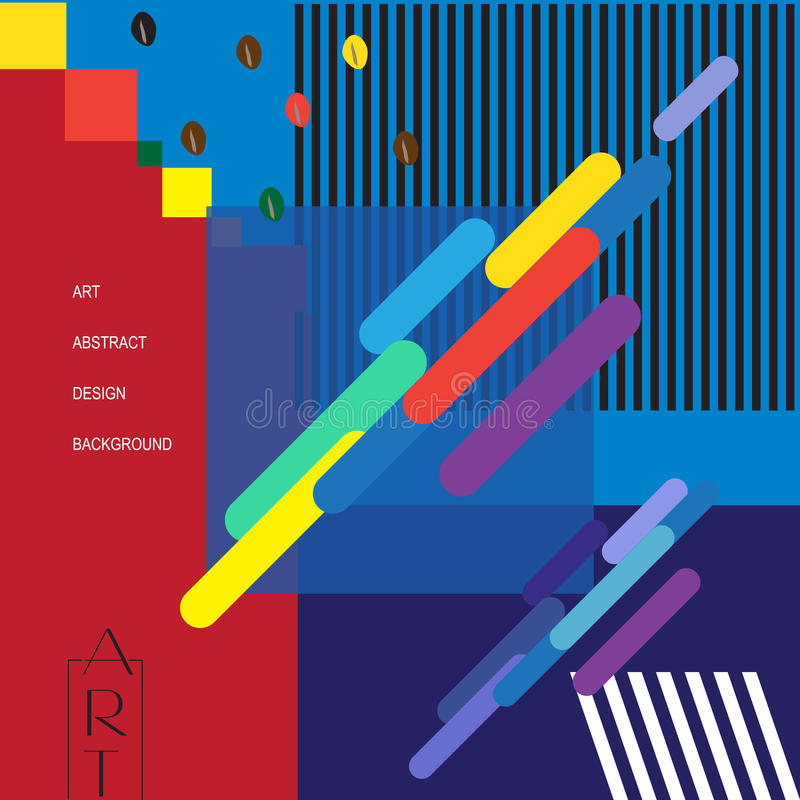 Modern Art exhibition poster vector illustration