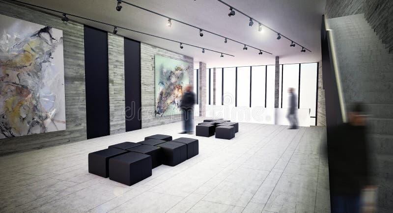 Modern Art Gallery Interior Space Stock Illustration Image 56355850