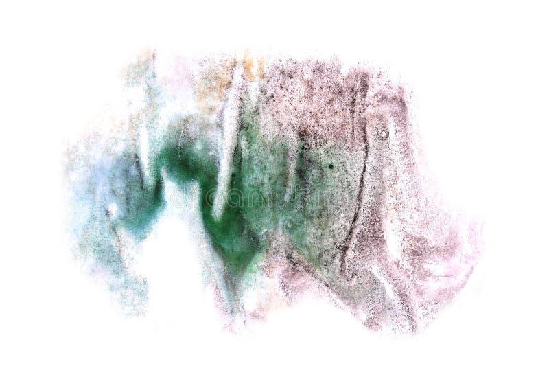 Modern art green,violet avant-guard artist seamless background. Cubism abstract art texture watercolor wallpaper stock image